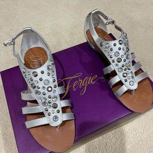 Fergie Silver Gladiator Sandals